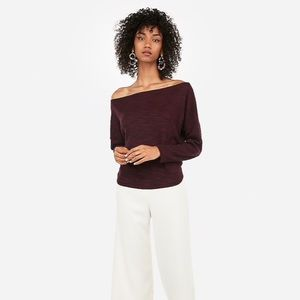 Express Space Dyed Off The Shoulder Top